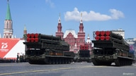 Russian Buk-M3 missile systems drive during the Victory Day Parade in Red Square in Moscow, Russia, June 24, 2020. The military…