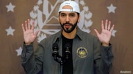 El Salvador's President Nayib Bukele speaks at a news conference before casting his vote during the municipal and parliamentary…