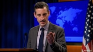 US State Department spokesman Ned Price speaks during the daily press briefing at the State Department in Washington, DC, U.S…