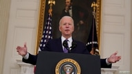 U.S. President Joe Biden delivers remarks on the Department of Labor's March jobs report from the State Dining Room at the…