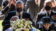 Members of the Royal Family follow the coffin of Britain's Prince Philip, husband of Queen Elizabeth, who died at the age of 99…
