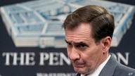 Pentagon spokesman John Kirby listens to a question during a briefing at the Pentagon in Washington, Wednesday, March 31, 2021…