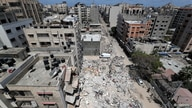 A view shows the site of Israeli air strikes, amid Israeli-Palestinian fighting, in Gaza, May 20, 2021. REUTERS/Mohammed Salem