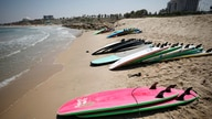 Surfing boards are seen on the beach at the Mediterranean Sea during a summer camp activity in Ashkelon, Israel July 10, 2019…