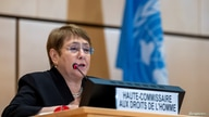High Commissioner for Human Rights Michelle Bachelet speaks during an urgent debate on current racially inspired human rights…
