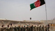 Handover ceremony at Camp Anthonic, from U.S. Army to Afghan Defense Forces in Helmand province, Afghanistan May 2, 2021…