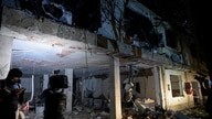 A view of the destroyed facilities of a military base, which according to authorities was due to a car bomb explosion, is seen…