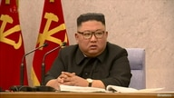 North Korean Leader Kim Jong Un speaks at the second plenary meeting of the 8th Central Committee of the Workers' Party in this…