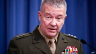 """FILE - In this April1 14, 2018, file photo, then-Marine Lt. Gen. Kenneth """"Frank"""" McKenzie speaks during a media availability at…"""