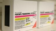 Boxes of Fentanyl Transdermal System made by Apotex Corporation sit on a shelf at a pharmacy, in Provo, Utah on  May 9, 2019…