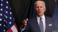 """U.S. President Joe Biden delivers remarks to members of """"the intelligence community workforce and its leadership"""" as he visits…"""