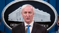 FILE - In this Sept. 16, 2020 file photo, then Deputy Attorney General Jeffrey Rosen speaks at the Justice Department in…