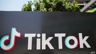(FILES) In this file photo taken on August 27, 2020, the TikTok logo is displayed outside a TikTok office in Culver City,…