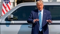 WASHINGTON, DC - SEPTEMBER 28: U.S. President Donald Trump talks about the new Endurance all-electric pickup truck on the south…