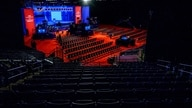The stage for the final Presidential debate of the US 2020 Presidential elections is prepared at Belmont University on October…