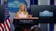 White House press secretary Kayleigh McEnany speaks during a press briefing at the White House, Monday, July 13, 2020, in…