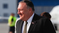 U.S. Secretary of State Mike Pompeo arrives at the airport in Prague, Czech Republic, Tuesday, Aug. 11, 2020. U.S. Secretary of…