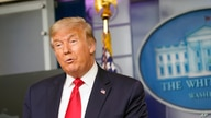 President Donald Trump speaks during a news conference at the White House, Friday, Aug. 14, 2020, in Washington. (AP Photo…
