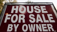 """This Tuesday, Oct. 17, 2017, photo shows a """"House for Sale by Owner"""" sign in a yard in Fort Washington, Pa. On Friday, Oct. 20,…"""