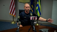 Portland Police Sgt. Brent Maxey spoke at a press conference at the Justice Center on Thurs., Aug. 6, 2020. Sgt. Maxey…