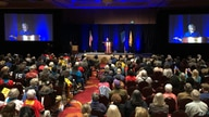 New Mexico Gov. Michelle Lujan Grisham speaks to local party delegates at the Democratic Party preprimary convention in…