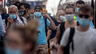 Passengers have arrived at the main train station in Frankfurt, Germany, Monday, Aug. 10, 2020. (AP Photo/Michael Probst)
