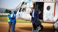 Director-General of the World Health Organization (WHO), Tedros Adhanom Ghebreyesus arrives by helicopter at Ruhenda airport in…