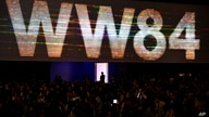 """A view of the crowd at the Warner Bros. Theatrical panel for """"Wonder Woman 1984"""" on day three of Comic-Con International on…"""