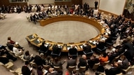 Diplomats assemble for a Security Council Meeting about conflict prevention at the 66th session of the General Assembly at…