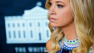 White House press secretary Kayleigh McEnany listens to a reporter's question during a news conference at the White House,…