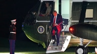 President Donald Trump steps off Marine One on the South Lawn of the White House, Saturday, Sept. 19, 2020, in Washington, as…