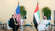 In this photo provided by Ministry of Presidential Affairs/WAM, U.S. Secretary of State Mike Pompeo, left, meets United Arab…