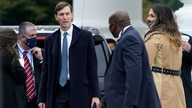 President Donald Trump's White House Senior Adviser Jared Kushner walks to a motorcade vehicle outside the White House, Monday,…