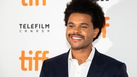 "The Weeknd attends a premiere for ""Uncut Gems"" on day five of the Toronto International Film Festival at the Princess of Wales…"