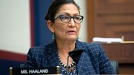 Rep. Debra Haaland, D-N.M., speaks, Monday, June 29, 2020, on Capitol Hill in Washington, during the House Natural Resources…