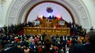 Venezuela's President Nicolas Maduro gives his annual address to the nation, before members of the Constituent Assembly on the…