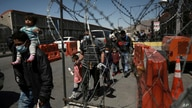 Migrants deported from the U.S. walk into Ciudad Juarez, Mexico, Tuesday, March 23, 2021. Mexico announced that U.S. advisers…