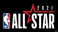 2021 NBA ALL-STAR INDIANAPOLIS primary logo, graphic element on black