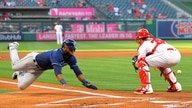 ADDS THAT MARGOT SCORES ON A FIELDING ERROR AND A SINGLE - Tampa Bay Rays' Manuel Margot, left, scores after a single by…