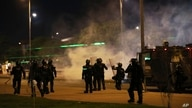 Police fire tear gas at demonstrators during an anti-government protest in Bogota, Colombia, Wednesday, May 26, 2021…