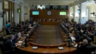 Permanent Council of the Organization of American States (OAS) representatives listen during the special meeting to consider…