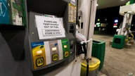 A pump at a gas station in Silver Spring, Md., is out of service, notifying customers they are out of fuel, Thursday, May 13,…