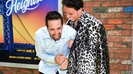 Producer Lin-Manuel Miranda, left, and actor Anthony Ramos laugh while posing at the 2021 Tribeca Film Festival opening night…