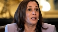 Vice President Kamala Harrismeets with LGBTQ stakeholders, Wednesday, June 23, 2021, in her ceremonial office on the White…