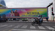 FILE - In this June 17, 2021 file photo, a billboard promoting President Daniel Ortega and his wife and Vice President Rosario…