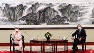 In this photo provided by the U.S. Department of State, U.S. Deputy Secretary of State Wendy Sherman, left, and Chinese Foreign…