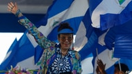 FILE - In this Sept. 5, 2018 file photo, the First Lady and Vice-President of Nicaragua Rosario Murillo waves to the crowd…