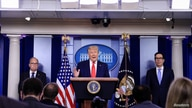 U.S. President Donald Trump holds press briefing on the U.S. economy at White House in Washington