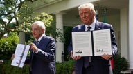 U.S. President Trump holds signing ceremony with Mexico?s President Lopez Obrador at the White House in Washington