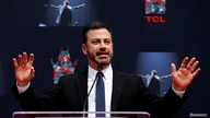 FILE PHOTO: Television host Kimmel speaks at a ceremony for recording artist Lionel Richie to place his handprints and footprints in cement in the forecourt of the TCL Chinese theatre in Los Angeles